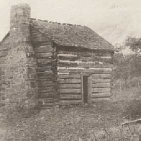 photo of cabin at Draper's Meadow